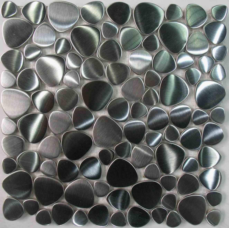 stainless steel tile pebble mosaic tile