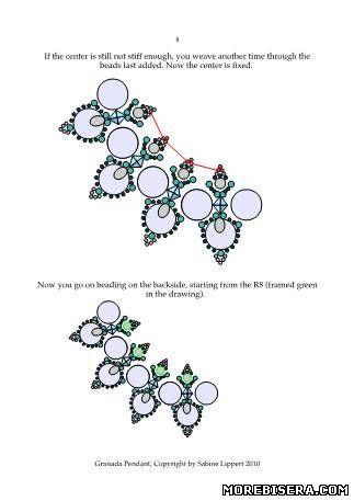 гранада - Колье - Схемы плетения бисером - Сокровищница статей - Плетение бисером украшений, деревьев и цветов, схемы мк