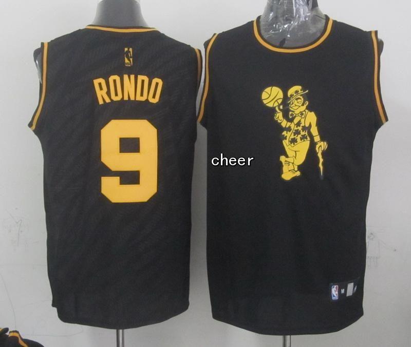 6a99ed646 Boston Celtics  9 rondo black NBA fashion Jersey