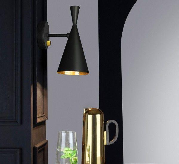 Tom Dixon Beat Wall Lamp Black Wall Lamps Wall Lights Contemporary Wall Lamp