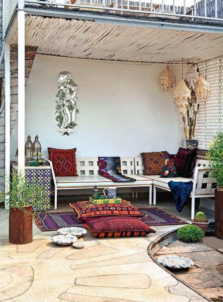coussin de sol ext rieur id es pour le jardin et la. Black Bedroom Furniture Sets. Home Design Ideas