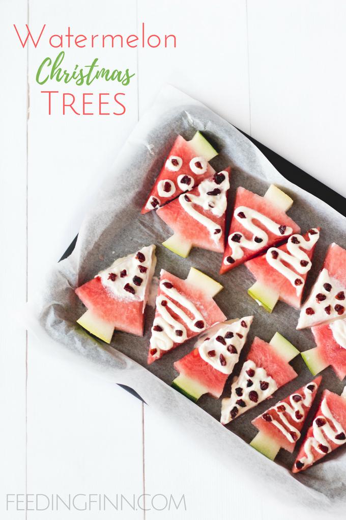 watermelon christmas trees. healthy christmas snacks for kids ...