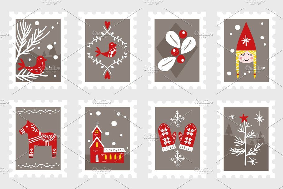 Scandinavian Christmas Illustrations Christmas Illustration Scandinavian Christmas Christmas Angels
