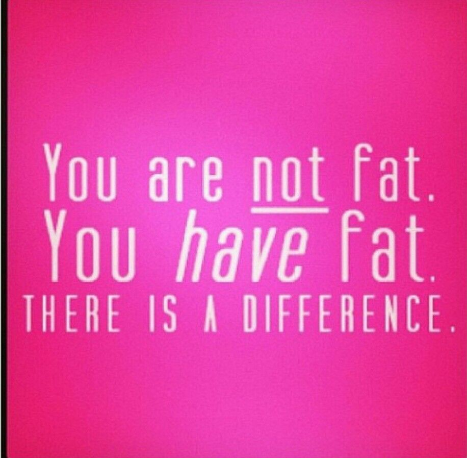 You are not fat, you have fat