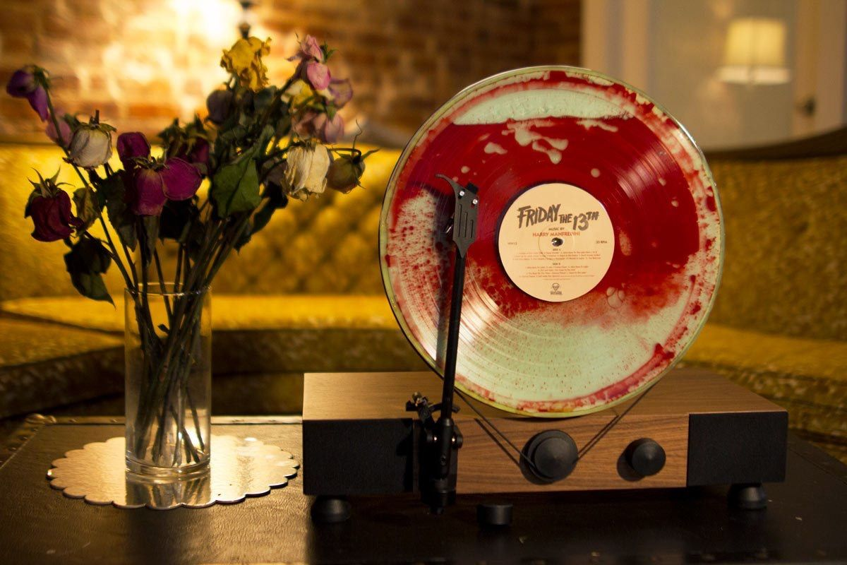 Friday 13th Blood Vinyl Playing On A Vertical Turntable Turntable Vinyl Records Vinyl