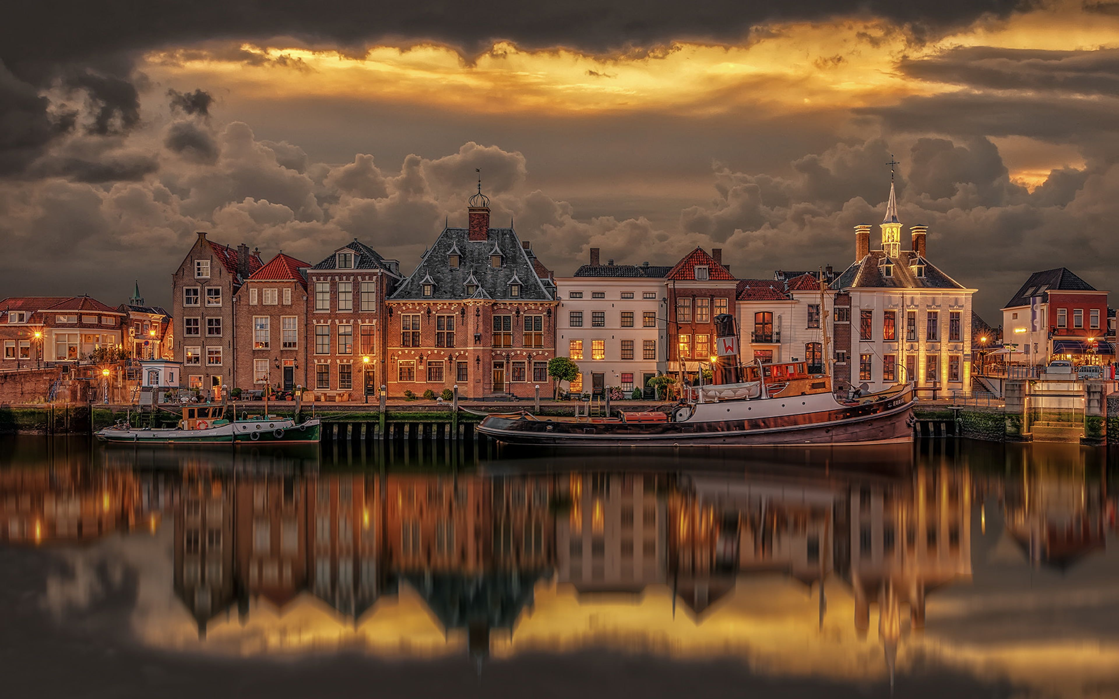 Old Port Of Maasslui Netherlands 4k Ultra Hd Desktop Wallpapers For Computers Laptop Tablet And Mobile Phone Computer Wallpaper Hd Desktop Hd Wallpapers For Pc