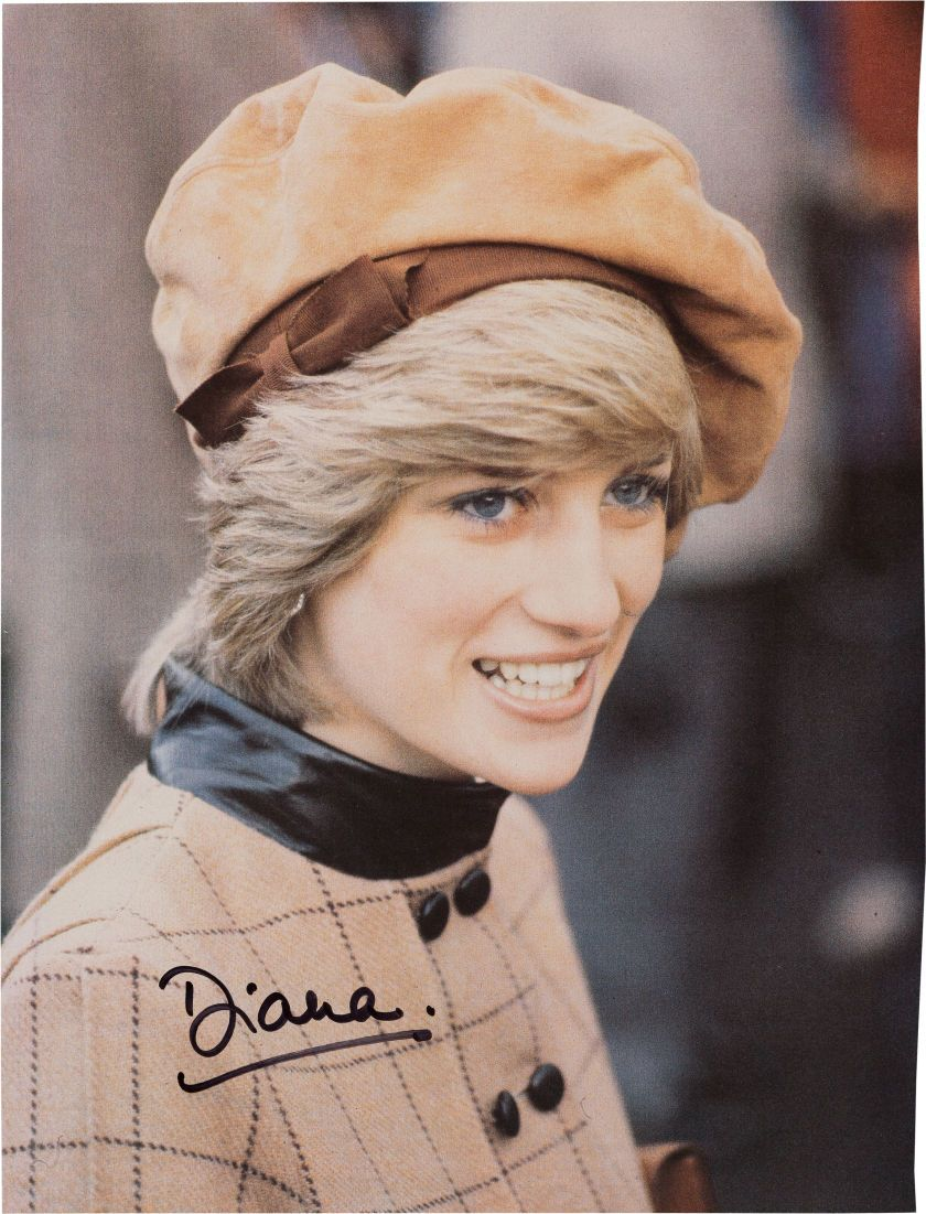 Princess Diana Signed Color Image (1980s)