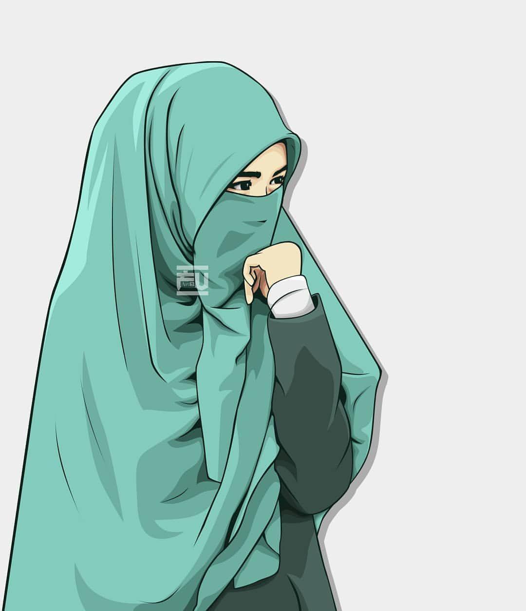 Vector Hijab Niqab Ahmadfu22 Dengan Gambar