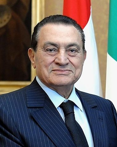 Hosni Mubarak, 4th President of Egypt, who was ousted during the Arab Spring uprising