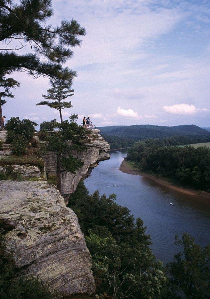 Calico Rock, Arkansas - Ozark Mountains. This area has ...