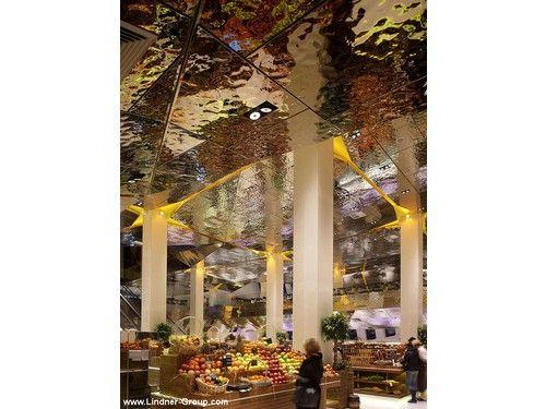Lindner metal ceiling - Tsvetnoy Central Market Moscow