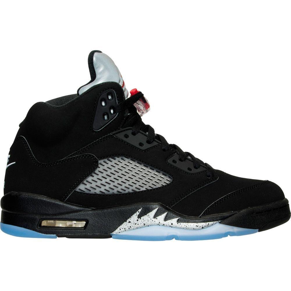 le dernier 3f7c8 dad17 Nike Air Jordan Retro 5 Black Metallic Silver OG 845035-003 ...