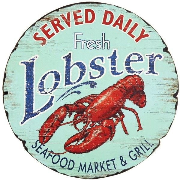 Lobster Wall Decor Seafood Sign Vintage Metal Signs