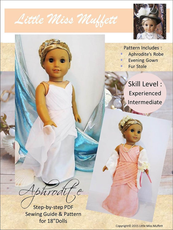 Pixie Faire Little Miss Muffett Aphrodite Doll Clothes Pattern for ...