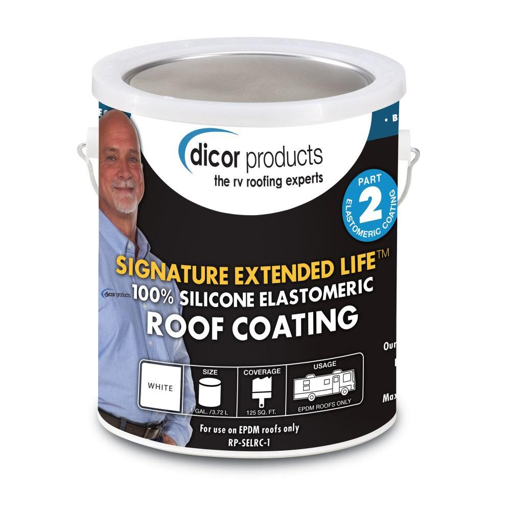 Dicor Signature 1 Gal Extended Life Rv Roof Coating In Tan Rp Selrct 1 Roof Coating Rubber Roofing Elastomeric Roof Coating