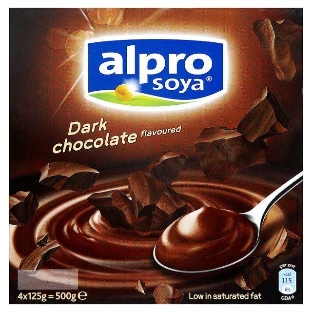 Alpro Dark Chocolate Dessert Dark Chocolate Vegan Yogurt