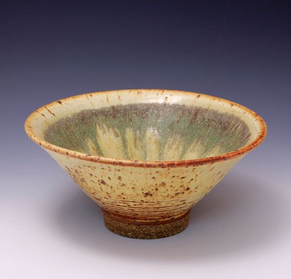Hey, I found this really awesome Etsy listing at https://www.etsy.com/listing/179615344/wheel-thrown-stoneware-bowl-with-yellow