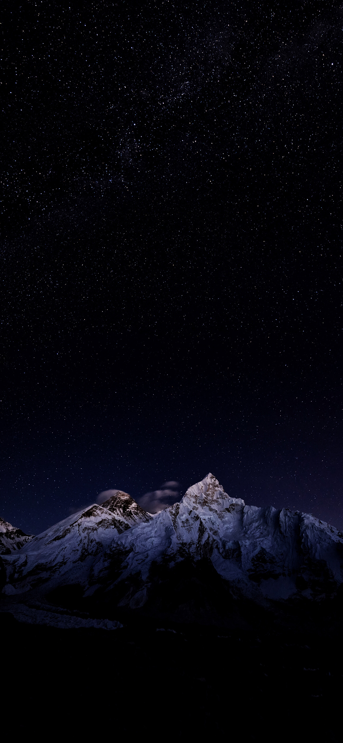 Snowy Mountains At Starry Night Landscape Wallpaper Scenery