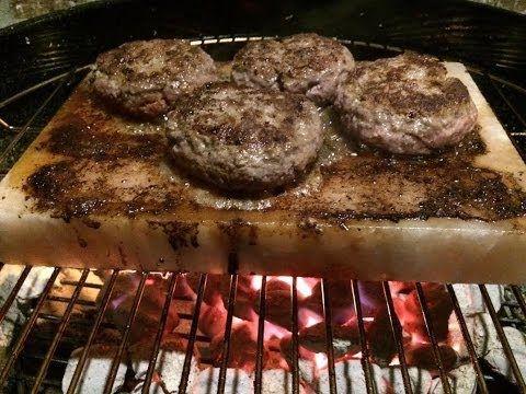 Bacon Cheese Burgers Grilled On A Salt Block Salt Block Recipes Salt Block Cooking Himalayan Salt Block Recipes