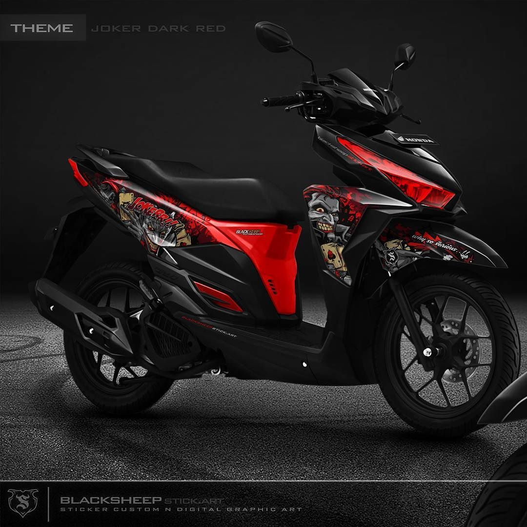 Vario 150 joker dark red cutting sticker vario150 honda joker whysoserious