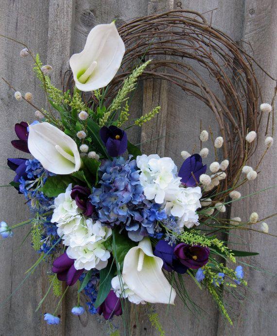Flower Wreaths For Weddings: Floral Wreath, Easter, Spring Wreath, Summer, Wedding