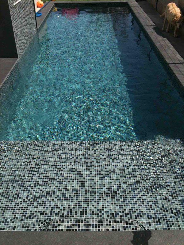 Perla Nera Glass Pastes Glass Pastes Perla Mosaic Bathroom In