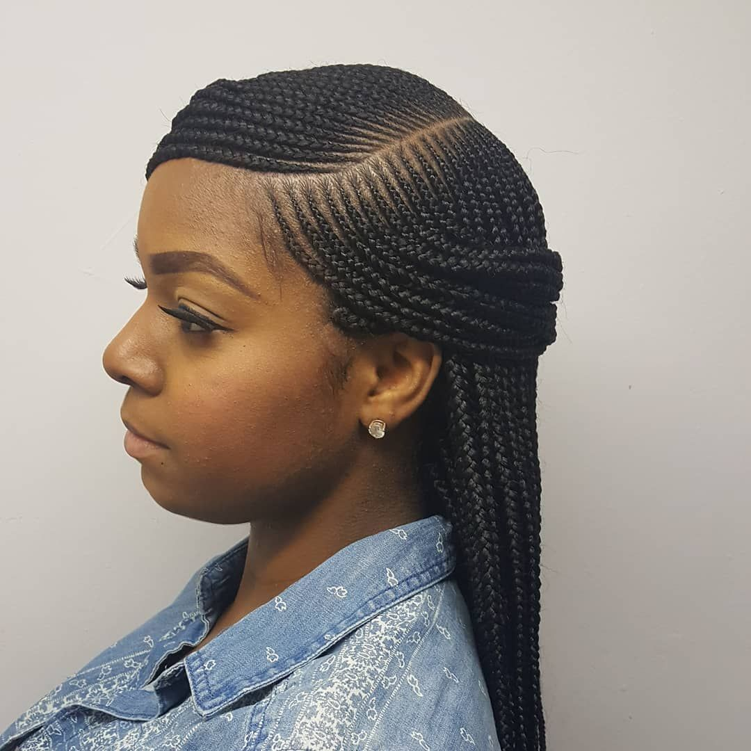Side Part Box Braids Braids Njbraids Njhairstylist