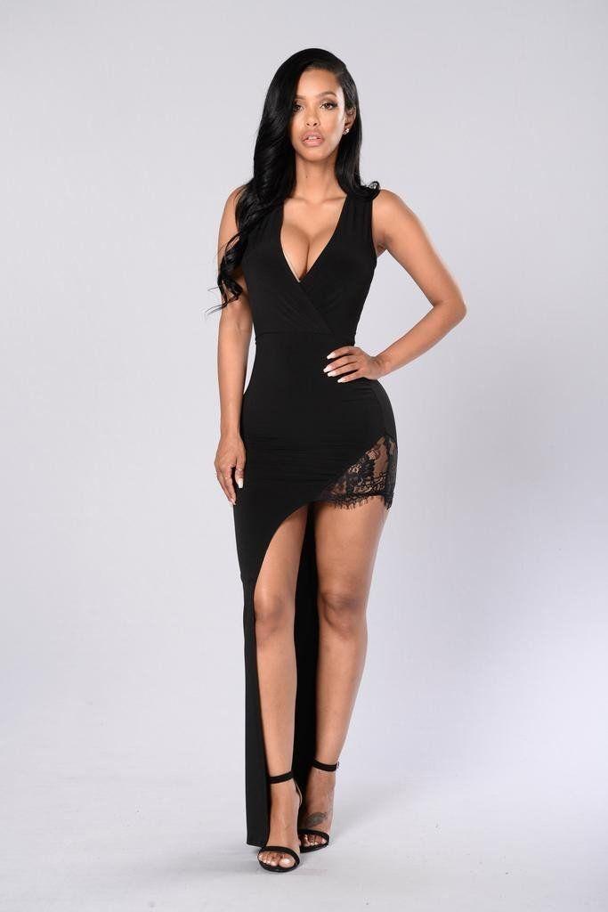 9f0e7cb26a7a Irregular Lace Patchwork Deep V-neck Sleeveless Dress