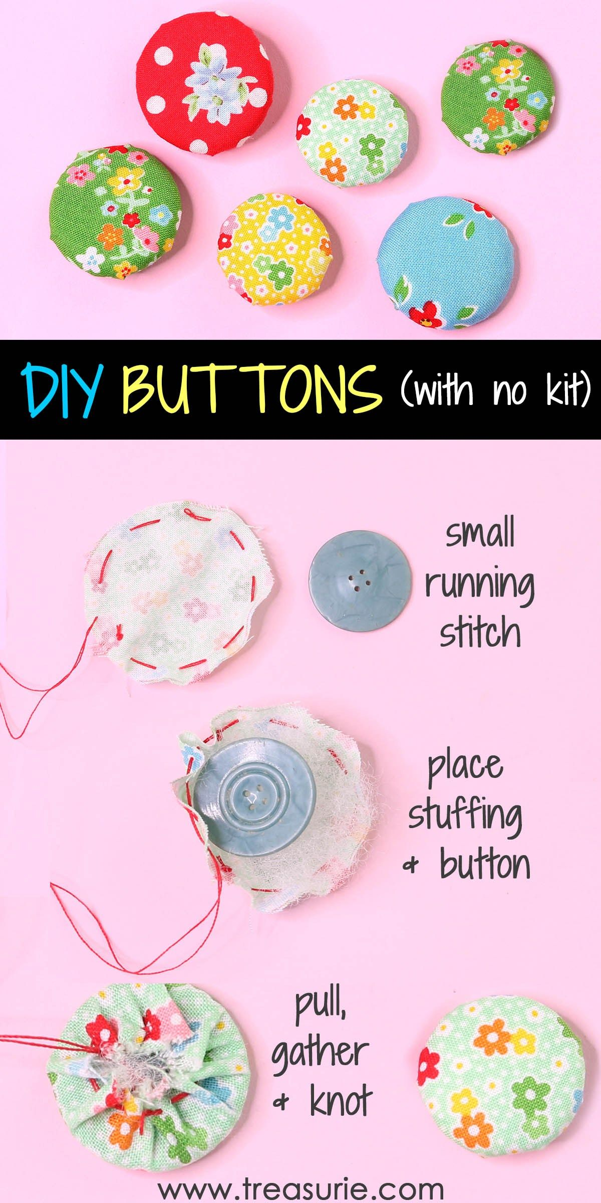 How To Make Fabric Buttons Kit And No Kit Treasurie In 2020 Fabric Crafts Fabric Crafts Diy Fabric Flowers Diy