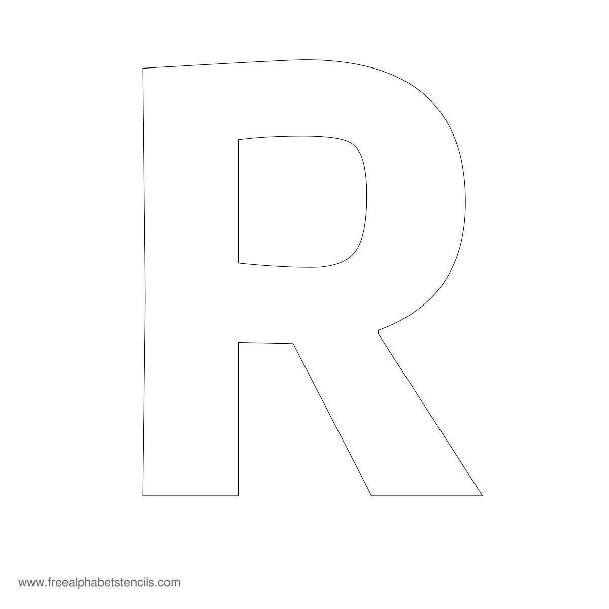 Large Alphabet Stencil R  Tag Sale    Stenciling