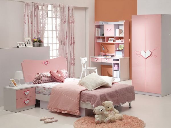 Eye Catching Remarkable Pink Girl Modern Furniture Sets for Teenage
