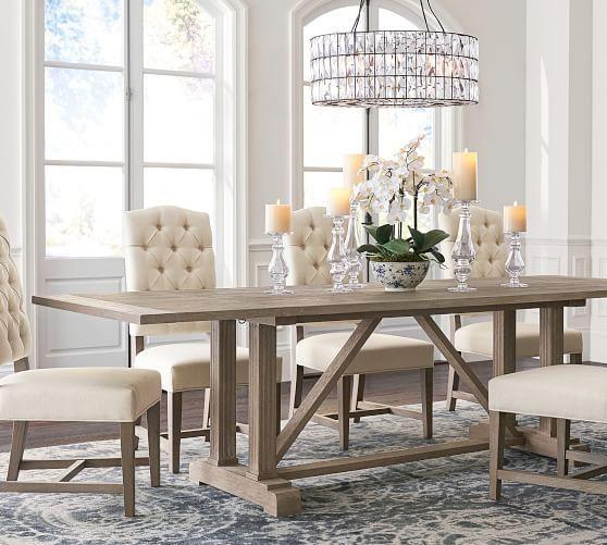 Livingston Extending Dining Table, Gray Wash, 84\
