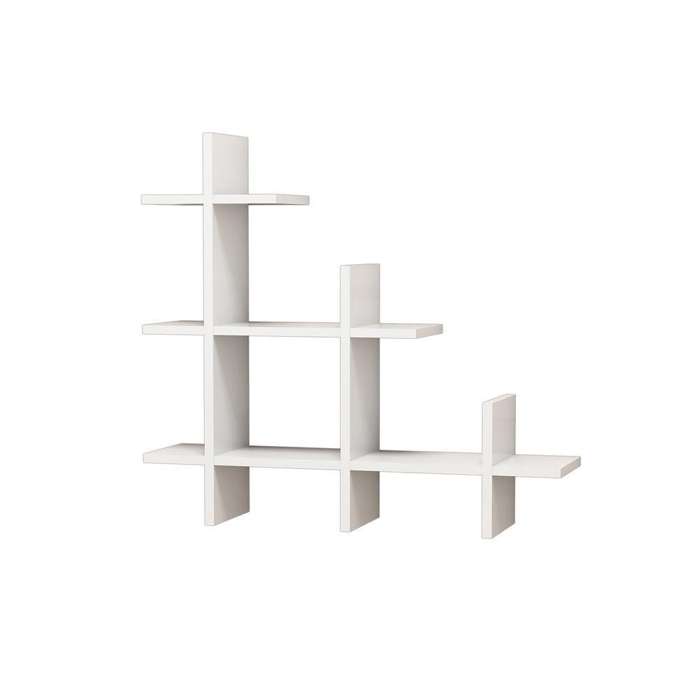 Ada Home Decor Wilmot White Modern Wall Shelf Mnrw3091 The Home Depot White Wall Shelves Modern Wall Shelf Wall Shelves