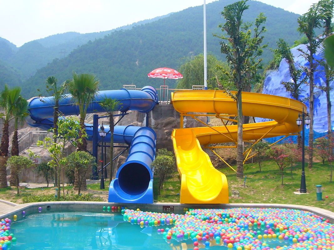 quality kids water slides manufacturers exporter buy waterpark equipment kids body water slides fiberglass pool slide for aqua park from china - Big Houses With Pools With Slides