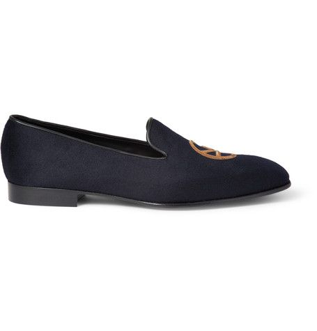 KINGSMAN George Cleverley LeatherTrimmed Cashmere Slippers kingsman shoes slippers