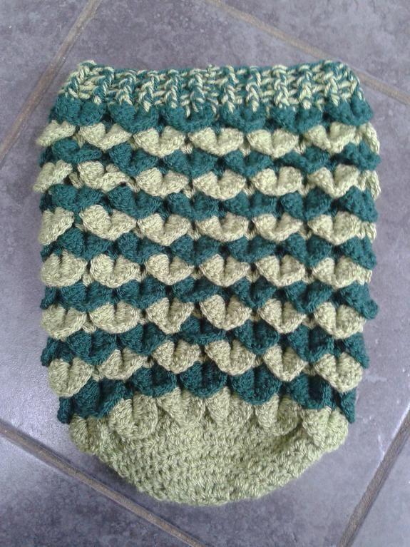 Crocodile Stitch Newborn Baby Cocoon | Crochet Stuff | Pinterest ...
