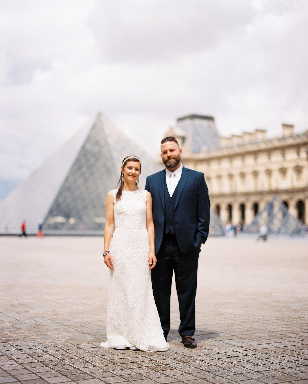 Paris wedding paris france louvre museum trocodero square white