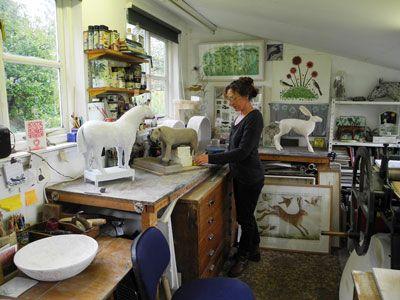 Georgina Warne in the studio