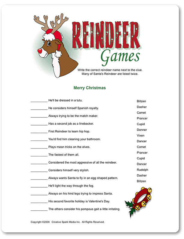 What does reindeer games mean? - definitions