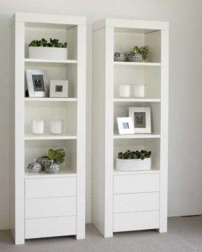 Mooie Hoge Witte Kasten Live Woonkamer Kast Decoratie