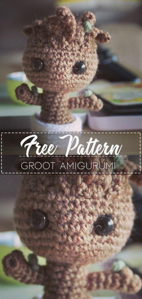 Groot Amigurumi – Pattern Free – Stricken ist so einfach wie 1, 2, 3 Das Stric…