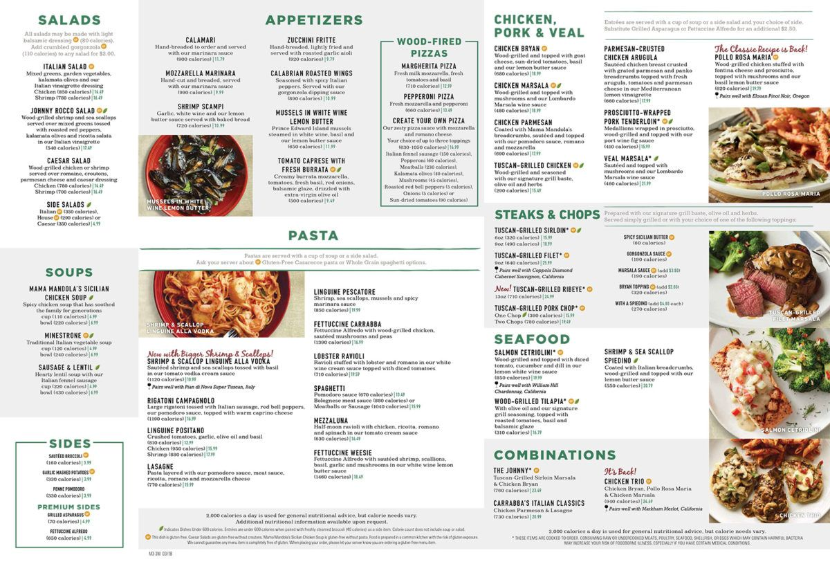 photograph relating to Carrabba's Printable Menu named Picture outcome for carrabbas italian grill menu Menu Layouts