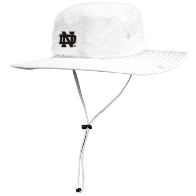 20258dcfaf0 Notre Dame Fighting Irish adidas Safari Bucket Hat – White