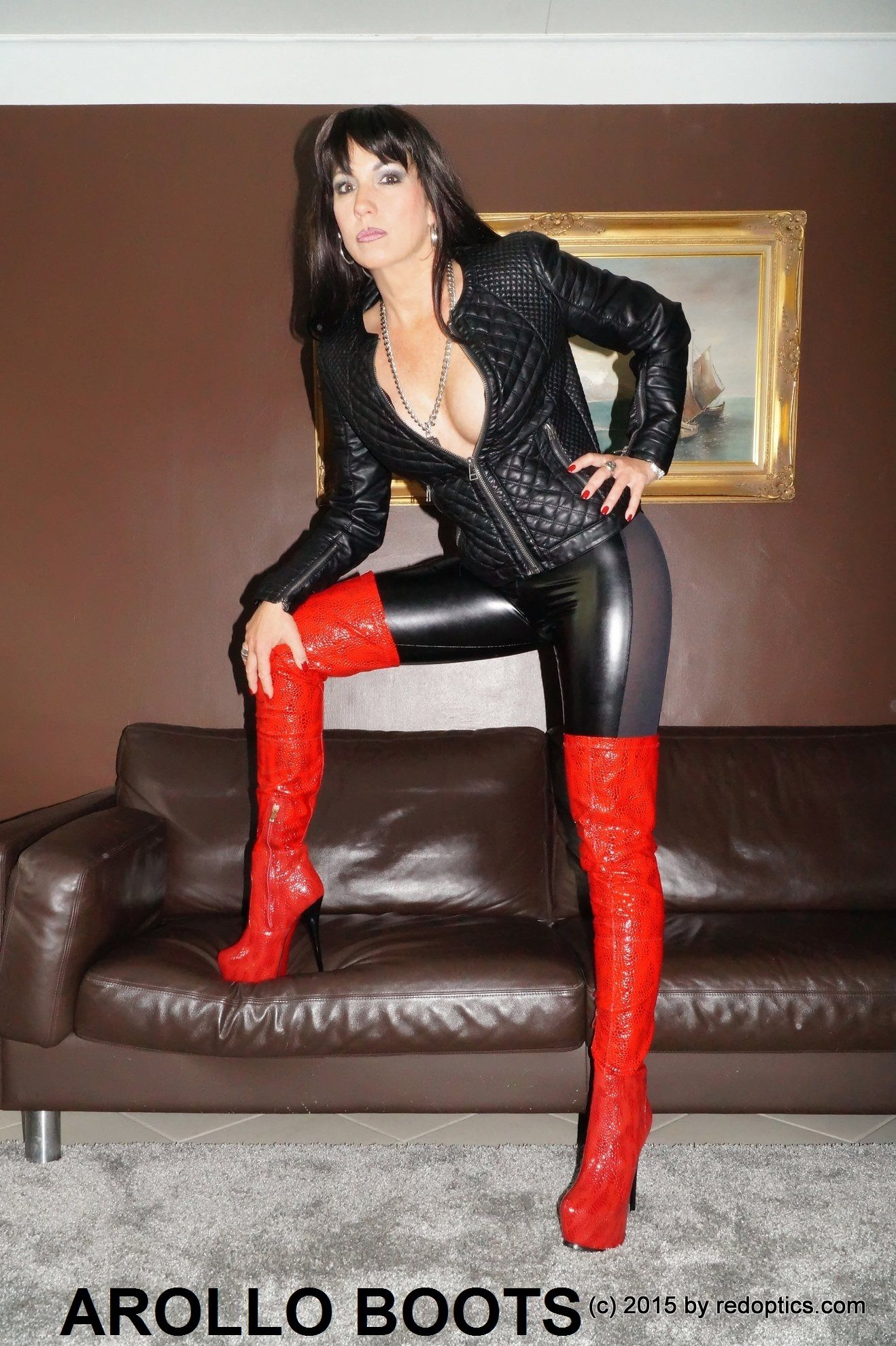Stella van Gent in AROLLO Boots overknee www