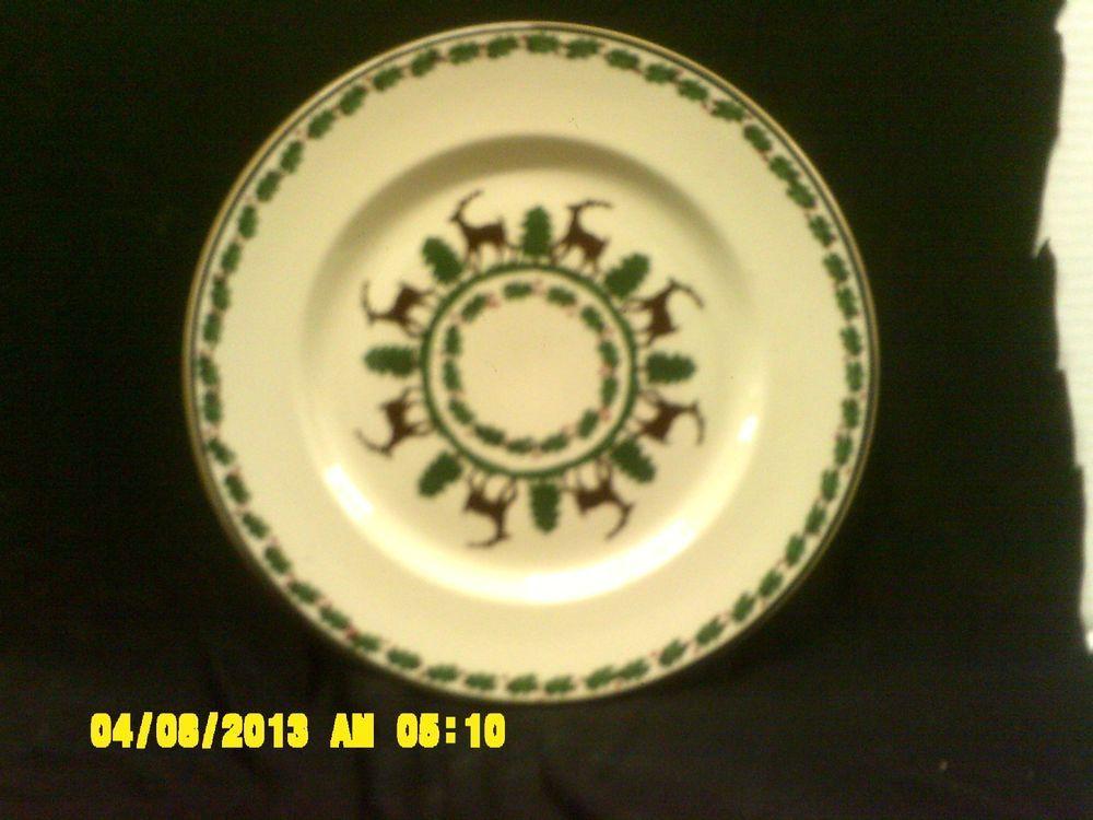 Nicholas Mosse Pottery Dinner Reindeer Plate Ireland Dinnerware Pattern Rare #NicholasMossePottery & Nicholas Mosse Pottery Dinner Reindeer Plate Ireland Dinnerware ...