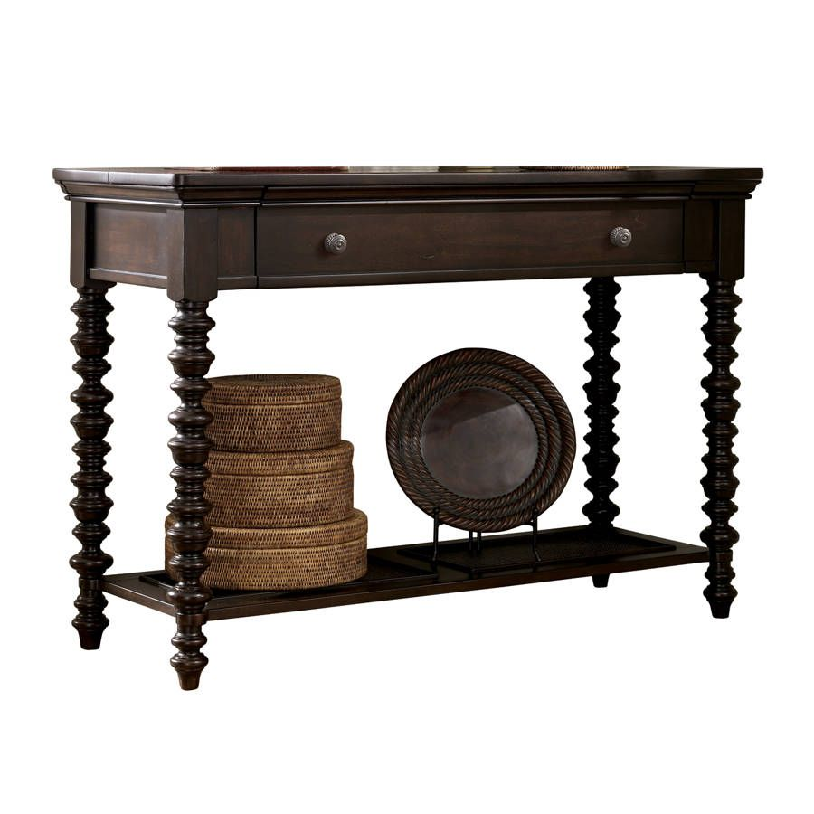 Echtholzmöbel Outlet Dark Brown Roddinton Sofa Console Table View 2 Interior