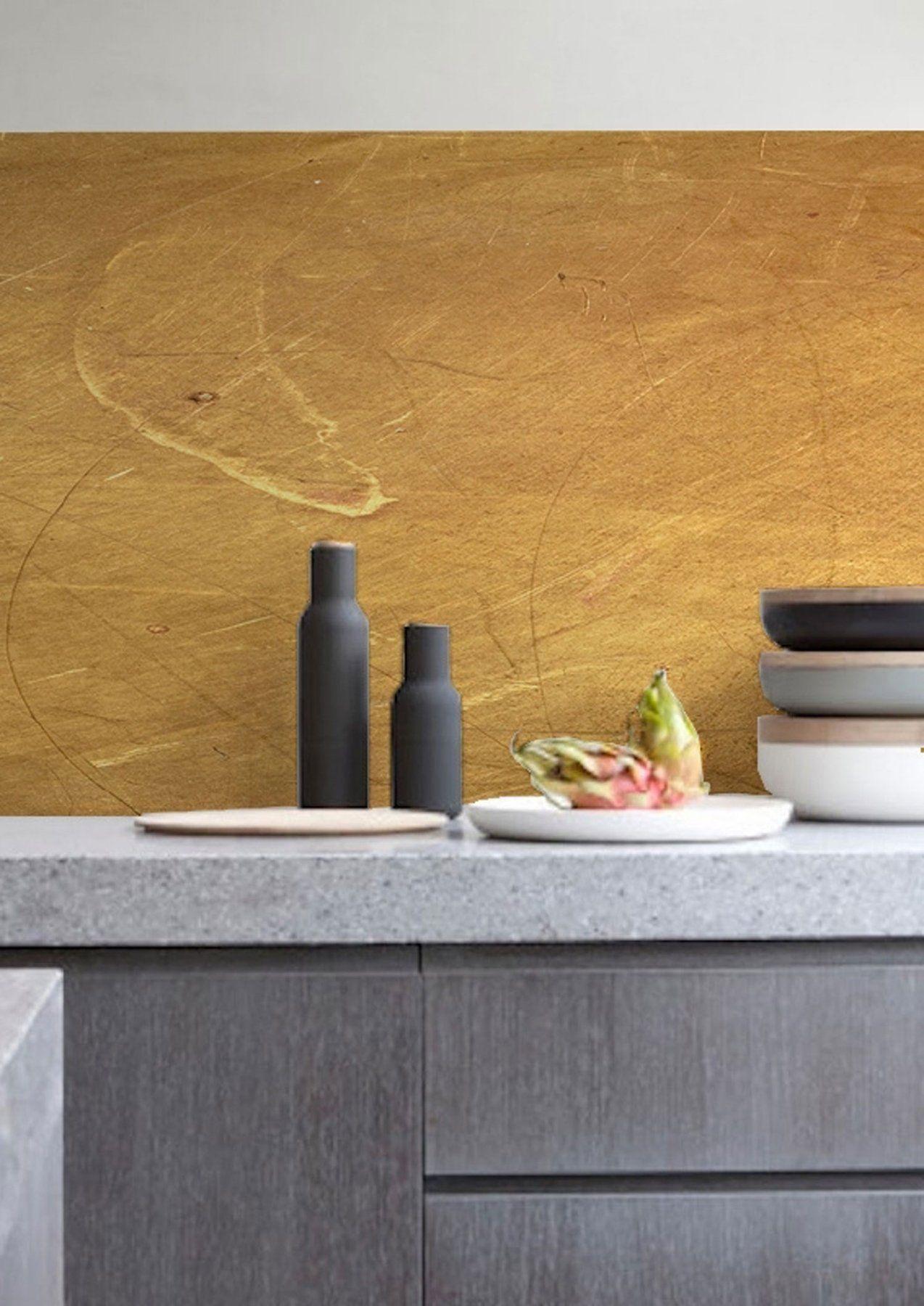 kitchenwalls wallpaper splashback gold  lime lace