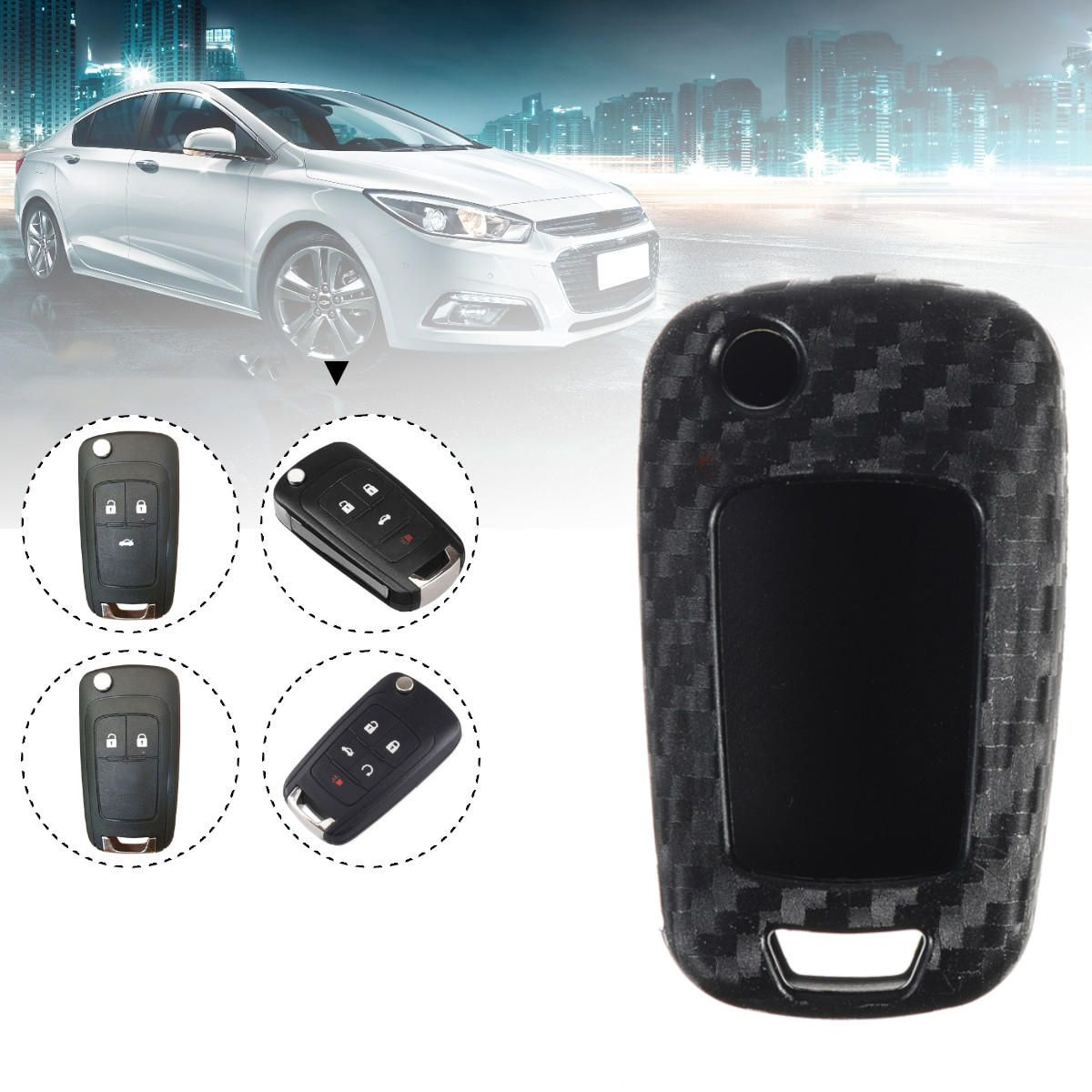Car Styling Auto Fold Carbon Fiber Grain Shell Protection Cover Case Chevrolet Cruze Aveo For Opel Astra Chevrolet Cruze Chevrolet Laos