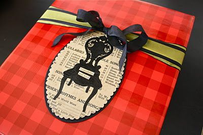 Gift tag tutorial at One Lucky Day