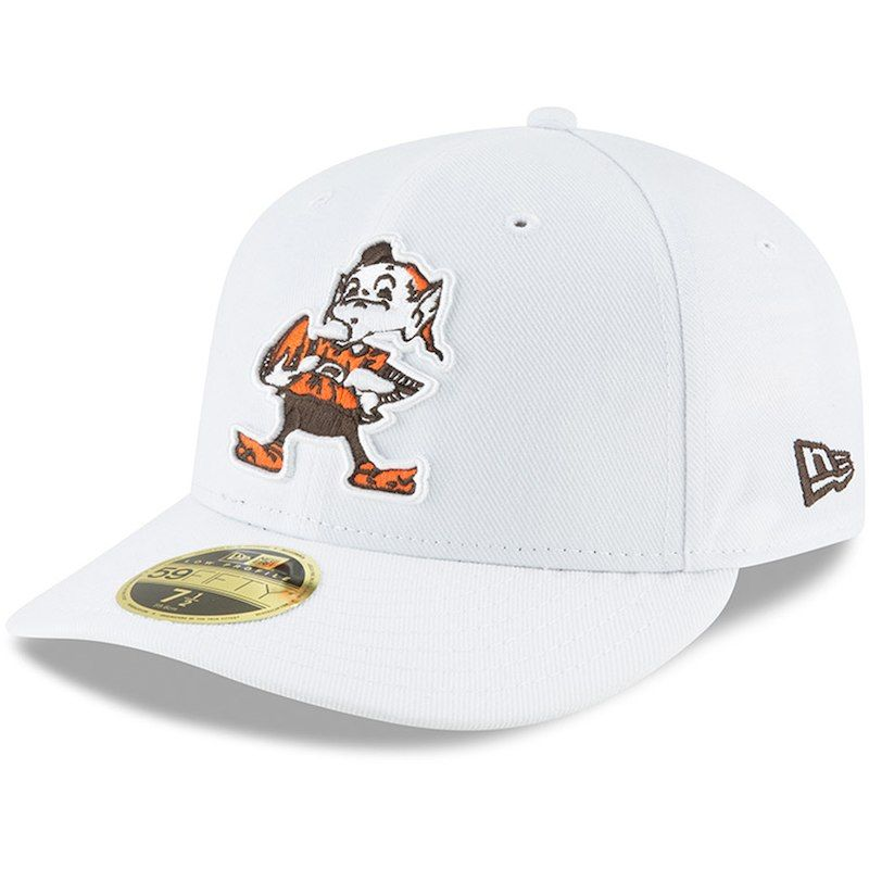 Cleveland Browns New Era Throwback Logo Omaha Low Profile 59FIFTY Fitted Hat  - White 8c320e572